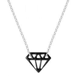 Diamond Silver Lacquered Necklace