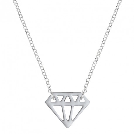 Collier Argent Diamant Laqué Diamonds are a Girl's BF