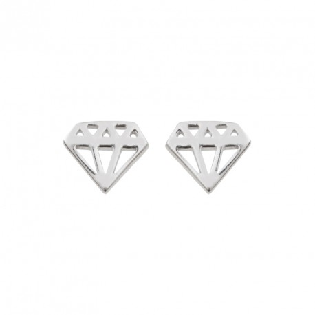 Boucles d'oreilles Argent Diamant Diamonds are a Girl's BF