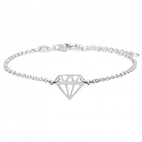 Bracelet Argent Diamant Diamonds are a Girl's BF