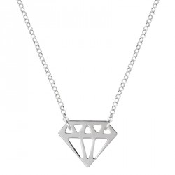 Collier Argent Diamant Diamonds are a Girl's BF