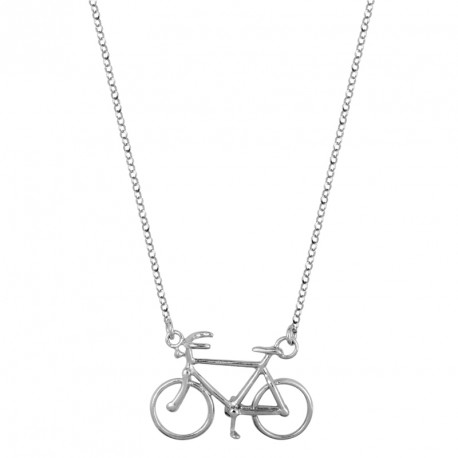 Bike Silver Necklace Play